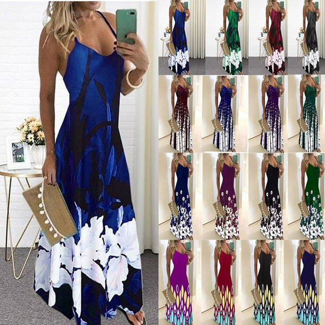Women Casual V-neck Print Long Sleeve Bodycon Party Long Dress Ladies Sexy Striped Clubwear Dresses Big Size 5XL 1