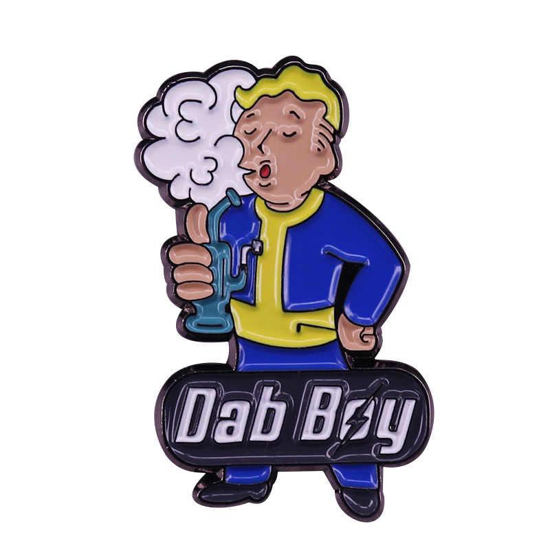 Fallout Vault Boy parodi Rave müzik festivali Pin Video oyun komik koleksiyonu