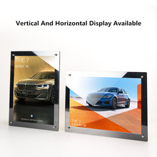 A3 Acrylic Refrigerator Photo Picture Advertising Poster Display Frame Wall Mount Sign Holder Frame