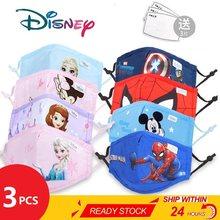 Masque de protection anti-poussière pour enfant de 3 à 12 ans,accessoire au motif de Disney, Spiderman, Marvel, Mickey et la Reine des Neiges, pour garçon et fille, lot de 2 — 5 pièces,