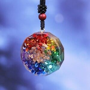 Image 4 - Pendentif en orgonite avec le symbole Om, collier de méditation et chakra, énergie de guérison, bijoux faits à la maison, livraison directe professionnelle