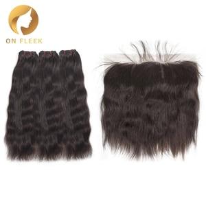 Натуральные волнистые индийские волосы с фронтальной прядью, прямые прядки с фронтальной накладкой, бесплатная доставка