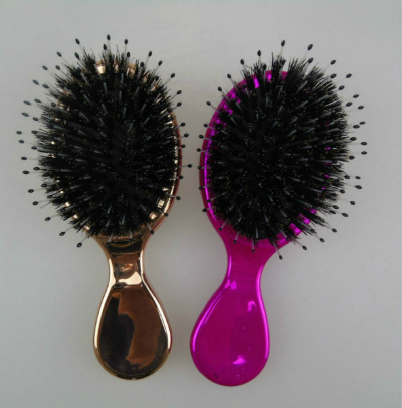 Pig 's Bristles Hair Brush Comb Egg Round Shape Soft Styling Tools Hair Brushes Detangling Comb Salon Hair Care Comb For Travel