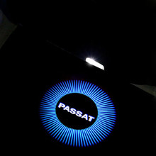 2X 3D LED car Door Warning Projector Light With passat Logo FOR Volkswagen VW Passat B5 B5.5 2000-2010
