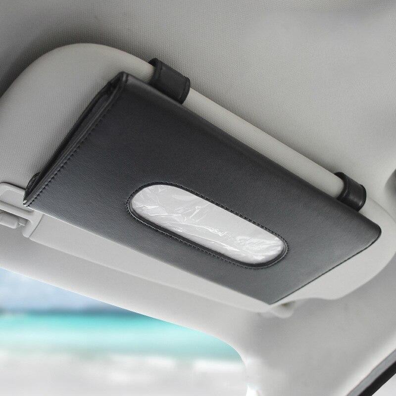 1 Pcs Car Tissue Box Towel Sets Car Sun Visor Tissue Box Holder Auto Interior Storage Decoration for Car Accessories
