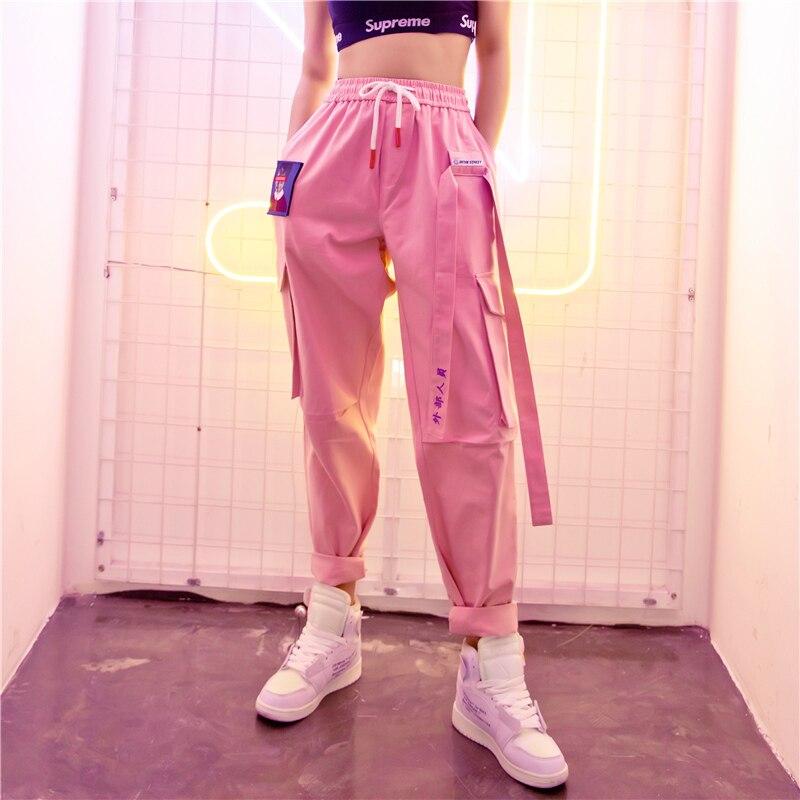 VZFFLente Women Broek Lösen Lange Broek Hoge Taille Broek Voor Women Harajuku Große Größe Unisex Hip Hop Punk Broek Streetwear