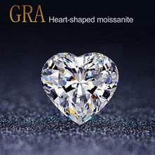 100% gerçek gevşek taşlar mozanit taş 4mm 10mm kalp şeklinde elmas D renk VVS1 Lab yetiştirilen Undefined taşlar takı için