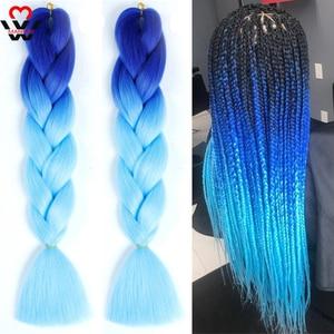 MANWEI 100g 24 Inch Synthetic Braiding Ombre Color Synthetic Hair Extension Crochet Twist Jumbo Braiding Kanekalon Hair