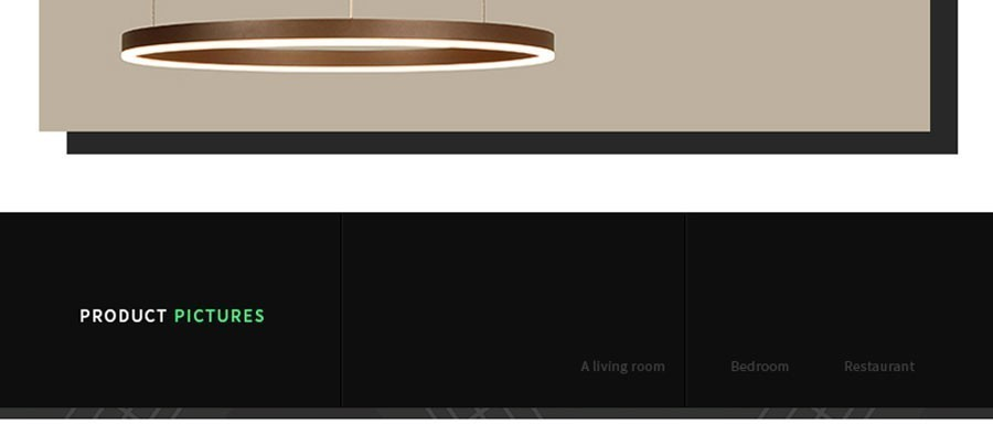 Moderno led pingente luzes para sala de