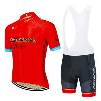 Equipo 2020 RED ASTANO Ciclismo jersey bicicleta pantalones cortos traje Ropa Ciclismo...