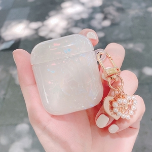 Image 4 - AirPods 2 luxury Pearl conch shell For AirPods PRO 3 cute case Keychain Pendant silicone Earphone Case Air Pods Fundas