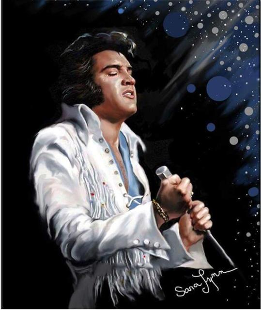 Broderie Damant Elvis Presley