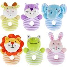 Милые мягкие животные, мягкие плюшевые погремушки, игрушки для мальчиков и девочек, детская игрушка для младенцев