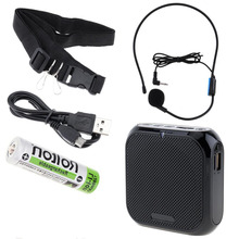 Rolton K400 Portable Voice Amplifier Megaphone Microphone Speaker Waist Band Clip Support FM Radio Recorder TF MP3 Player