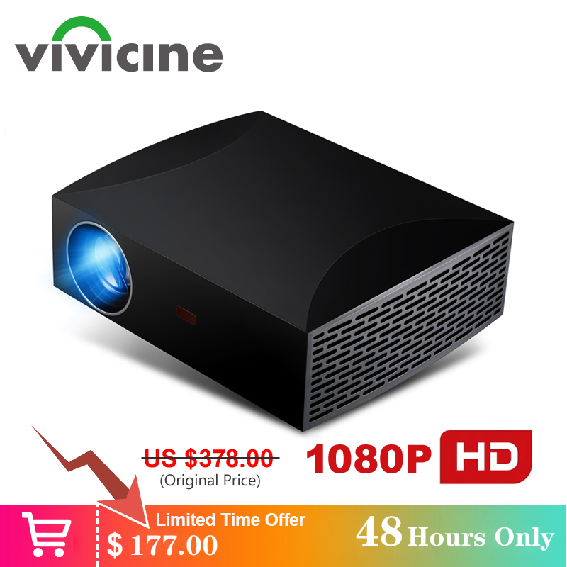 VIVICINE F30 Full HD Home Theater Projector,Option Android 9.0 WiFi Bluetooth 1080p HDMI USB PC Video Game Projector Beamer