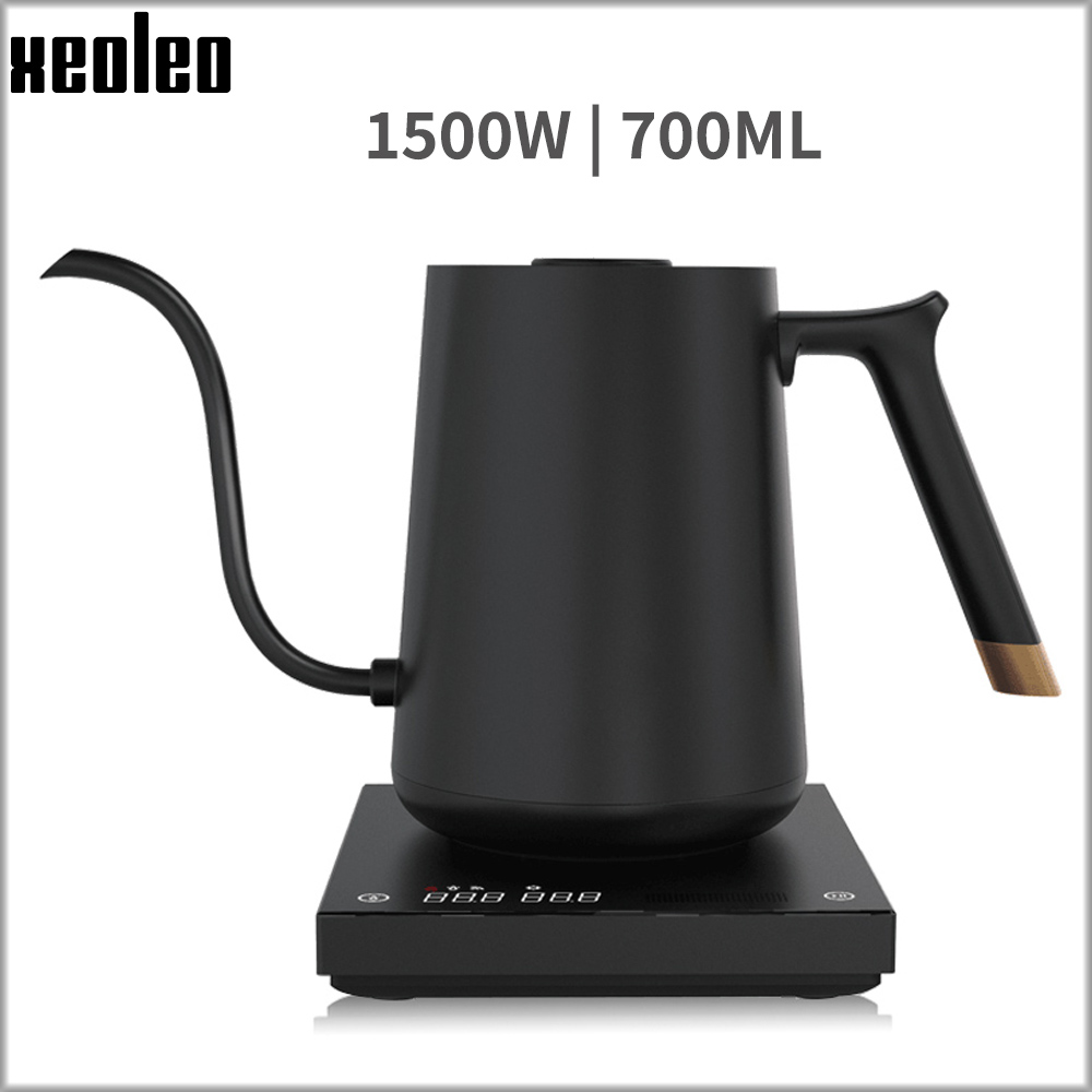 700ml Smart Coffee Kettle Quick Heating Coffee Pot Electric Kettle Hand Brewed Coffee Variable Temperature Digital Gooseneck