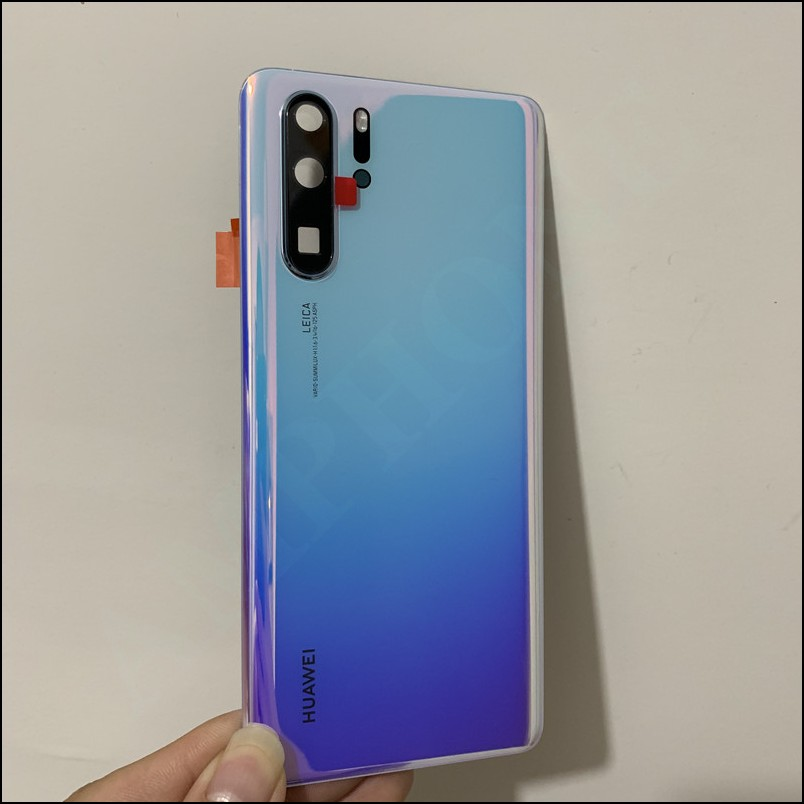 New Original Tempered Glass For Huawei P30 Pro Back Cover Spare Parts Back Battery Cover Door Housing + Camera frame