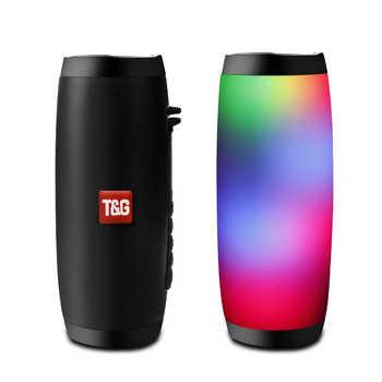 Altavoz Bluetooth inalámbrico LED caja portátil Boom al aire libre bajo columna subwofer caja de sonido con micrófono soporte TF FM USB