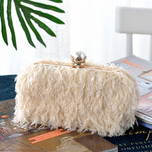 The Feather Fringe Evening Clutch bag and handbag purse
