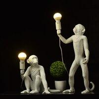 Lampe de singe en résine nordique éclairage de pendentif LED éclairage de salon Restaurant chambre Luminaire luminaires de cuisine Suspension 7 couleurs