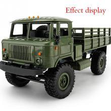 цены 1:16 DIY Military Four-wheel Drive Off-road Remote Control Climbing Car Model For WPL B-24 Children Kids Gift Toys Chrismas