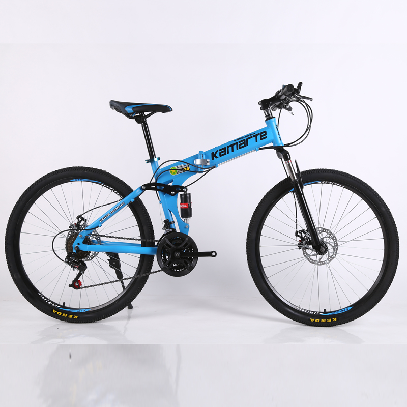 24 speed mountain bike 24 and 26 inch folding bicycle cheap adult Double disc mountain bike spoke wheel mountain bicycle image