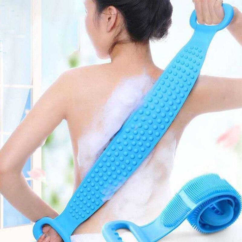Magic силикон щетки ванна полотенца растирание спина грязь пилинг тело массаж душ расширенный скрабер кожа чистка душ щетки