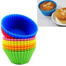 12pcs Silicone Cake Mold Round Shaped Muffin Cupcake Liner Dessert Baking Chocolate Cup Bakeware Maker