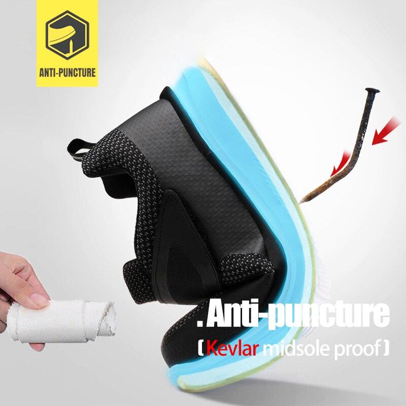 MODYF chaussures de sécurité pour hommes en acier orteil Construction chaussures de protection léger antichoc travail chaussures de sport pour hommes - 3