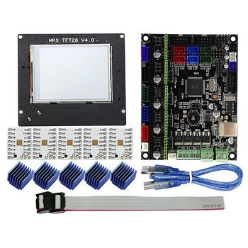 MKS GEN L+TMC2208+MKS TFT28 2.8 Inch Color Screen Mini Panel Press Display 3D Printing School Kit Controller 3D Printer Entry Un