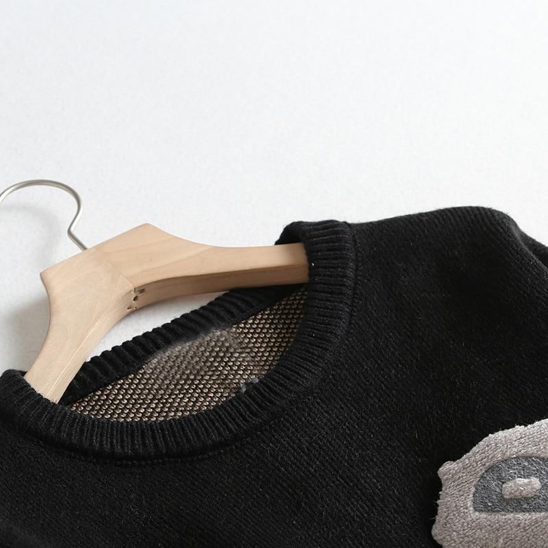 Animal Pattern 2019 Autumn And Winter New Korean Women Sweater All match Long Sleeved Shirt Slim Female Pullover - 3