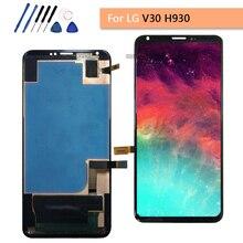 """חדש 6.0 """"עבור LG V30 LCD H930 LCD מגע מסך 100% מבחן Digitizer עצרת עבור LG V30 VS996 LS998U h933 LS998U lcd החלפה"""