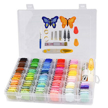 100Pcs Embroidery Floss with Storage Box Friendship Bracelets Floss Crafts Floss Bobbins 41Pcs