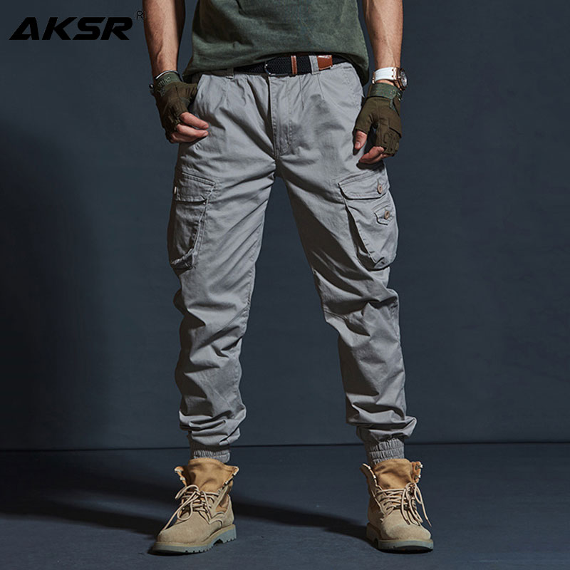 Image 2 - AKSR Mens Hip Hop Streetwear Cotton Cargo Pants Large Size 