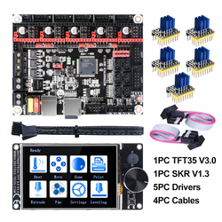 Bigtreetech skr v1.3 32bit placa + tft35 v3.0 tela de toque + 5pc tmc2208 tmc2209 uart tmc2130 spi peças de impressora 3d mks sgen gen l