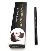 Barber-Pencil Beard-Filling-Pen-Kit Male with Brush Salon Facial Hair-Engraving Styling