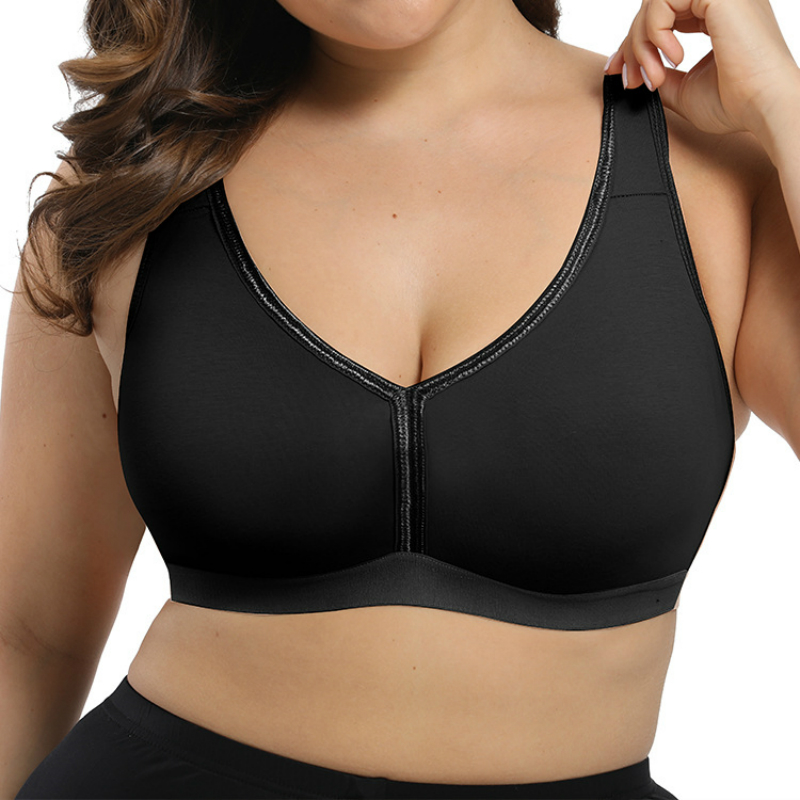 Women's Comfort Support Seamless Soft Full Cup Wire Free Plus Size Everyday Bra 115 120 F G Big Cup Black Beige