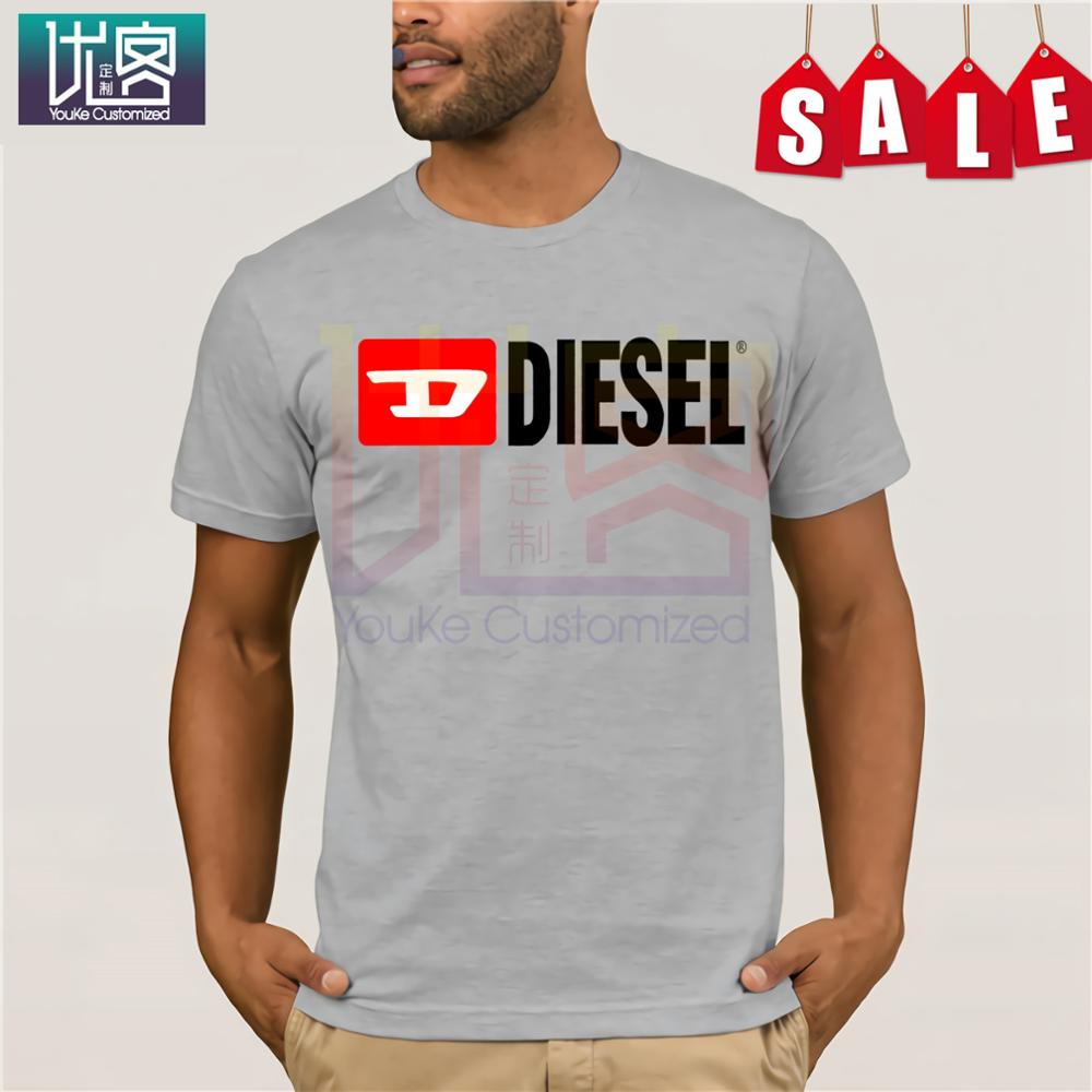 DIESEL Fashion Men Free Shipping Men's T-shirt Simple Short Sleeve Street Men New Humor Tee Shirt 100% Cotton Tops Graphic