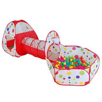 Duży namiot zabawkowy dla dzieci basen dla dzieci tuba Teepee Play namiot dla dzieci piłka oceaniczna basen Pit składany rurociąg dla dzieci pełzający zabawkowy domek tanie i dobre opinie JOCESTYLE Polyester 3 lat Kids Toy Ocean Ball Pool Pit Game Play Tent 120cm*82cm*58c 95cm*90cm*90cm 105cm*46cm Kids Outdoor Fun Sports Toys