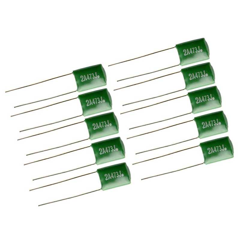 10 peças 0.047/2A473J Capacitores Diy Para Guitarras Baixo Tom Tampas Verde