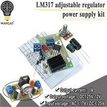 Lm317 ajustável kit de alimentação contínua ajustável dc fonte alimentação diy ensino treinamento peças