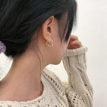 Kolczyki dla kobiet koreańskie miłosne kolczyki nowe modne modne kolczyki w 2020 biżuteria hurtowych tanie tanio FIRST NOBLE NJQSIC CN (pochodzenie) SILVER 925 sterling NONE Kobiety Śliczne Romantyczny Serce