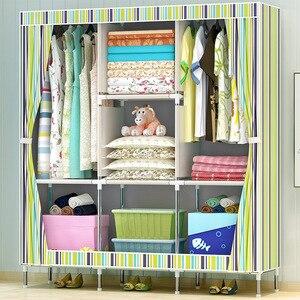 Image 5 - GIANTEX Тканевый шкаф для одежды, складной портативный шкаф для хранения вещей, мебель для дома и спальни