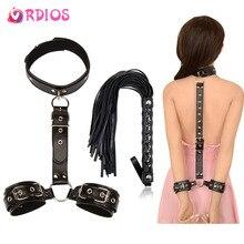 VRDIOS Erotic Sex Toys For Couples Woman Sexy BDSM Bondage Handcuffs Neck Collar