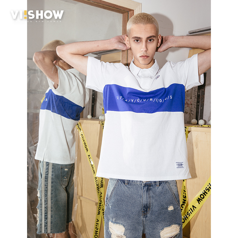 VIISHOW new design   Polo   shirt men brand clothing fashion patchwork men   polo   quality Cotton 100% short sleeve   polo   male PD1500182