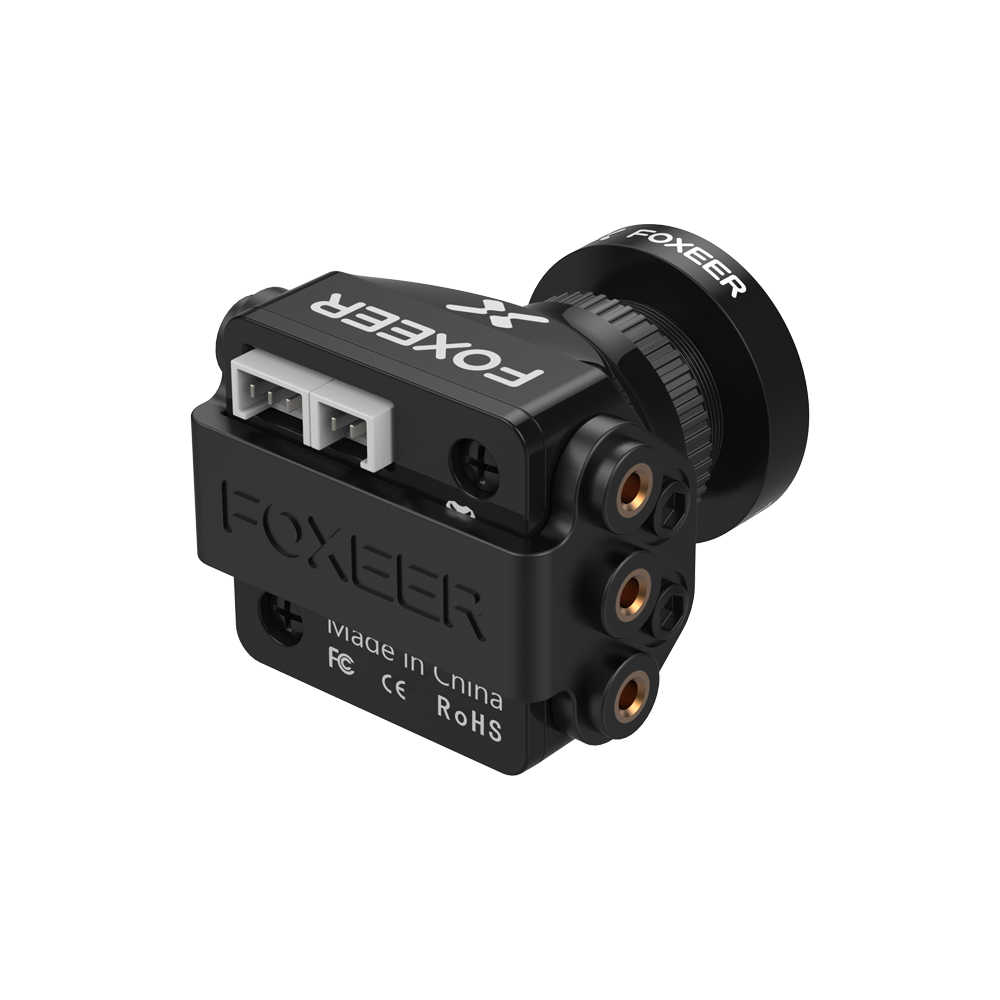 Foxeer Razer Mini HD 5MP 2.1mm M12 1200TVL PAL NTSC 4'3 16'9 caméra FPV avec Image naturelle OSD 4.5-25V pour Drone de course RC FPV