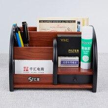 Storage-Box Pencils-Holder Desktop-Organizer Drawer Office Stationery Multifunctional