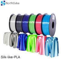 NorthCube 3D Stampa di Seta PLA Filamento 3D Stampante Filamento 1.75 millimetri 1KG di Seta Come La Serie Filamenti di Colore