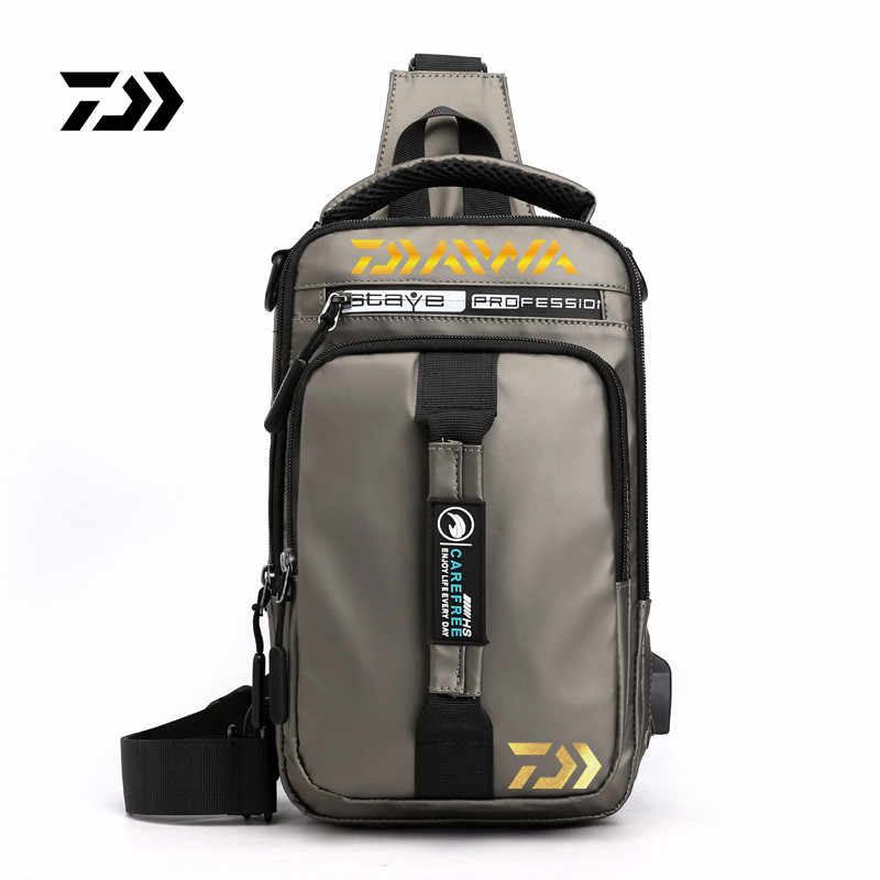 2020 New Daiwa Men Women Single Shoulder Fishing Bags Waterproof Leisure Multi Function Backpacks Fishing Gear Kit 777#