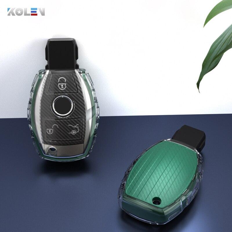 Coque de protection pour clé de voiture en Fiber de carbone pour mercedes-benz A B R G classe GLK GLA W204 W202 W212 W251 W176 W463 AMG